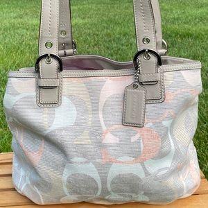 Coach Soho Signature Optic Linen Tote Bag